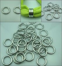 50 pcs/lot Silver Acrylic Scarf jewelry Rings Pendant Accessory