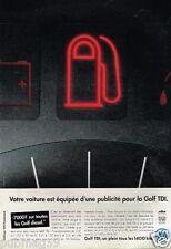 Publicité advertising 1995 VW Volkswagen Golf TDI