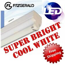 4ft 1200mm Fitzgerald LED Batten Fitting Single Tube Light T8 Ceiling 18w = 36w