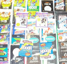Awesome Lot of 100 Unopened Old Vintage Hockey Cards in Wax Cello Rack Packs