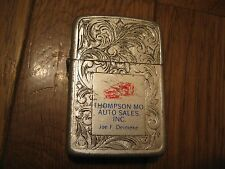 Vintage Thompson MO Auto Sales Joe F Deimeke Park Lighter
