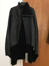 Rick Owens Black Shearing Jacket, Size 44