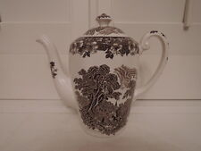 Vintage Brown Transferware Woodland Enoch Wedgwood Teapot/Coffee Pot