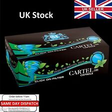 100x CARTEL Capsule Menthol Cigarette Tubes Filter 20mm -(1 Box) Click on filter