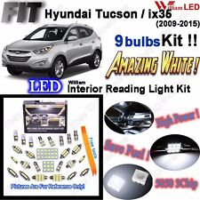 9 Bulbs Xenon White LED Interior Light Kit For Hyundai Tucson / ix35 2009-2015