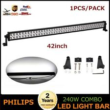 Philips 42inch 240W LED Light Bar Spot Flood Offroad Lamp Truck Driving Boat ATV