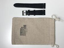 Bulang & Sons JPM Vintage Dark Blue Leather 20mm Strap Brand New