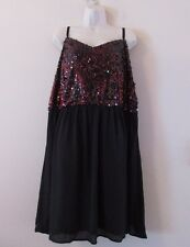 NWT Torrid Black w/Red Sequins Skater Cocktail Dress Sz 5 or 5X