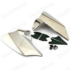 Chrome Reflective Saddle Shield Air&Heat Deflector For 1997-2007 Harley Touring
