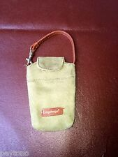 Longaberger Homestead Cell Phone Case- green suede with belt loop