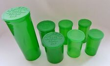 Set of 7 Squeeze Pop Tops Bottle Rx Medical Herb Pill Container 13 19 30 60 DRAM