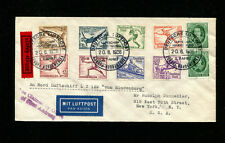 Zeppelin Sieger 417A 1936 LZ129 3rd North America Flight Germany BordPost