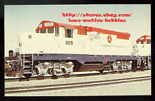 Postcard  DEPARTMENT OF TRANSPORTATION Test Track DOT #005 5 GP40-2  ex- UP 1980
