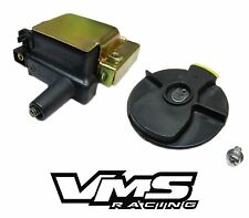 VMS RACING OE REPLACEMENT COIL + ROTOR BLACK FOR 99-00 HONDA CIVIC SI B16