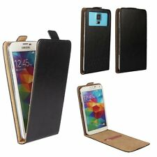 Mobile Flip Cover With Card Holder For Siswoo Cooper I7 - Black M FLIP