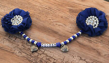 Personalised stunning pram charm in royal blue for baby ideal gift