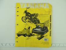 Yamaha Dealer Special Tools Catalog Motorcycle Snowmobile L1037