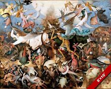 THE GREAT WAR IN HEAVEN GOOD VS EVIL PAINTING BIBLE CHRISTIAN ART CANVAS PRINT