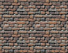 12 SHEETS bumpy EMBOSSED BRICK stone wall paper 21x29cm HO 1/87 CODE S4y7