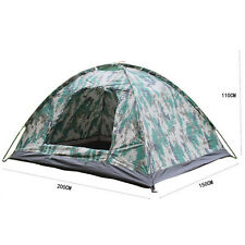 Outdoor Portable 2 Person Camping Waterproof folding tent Camouflage Hiking