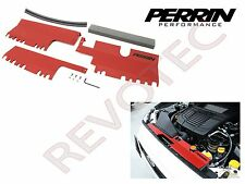 Red Perrin Radiator Shroud Cooling Plate Kit For 2015-2016 Subaru WRX / STi