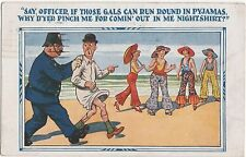 POSTCARD  COMIC Police Theme  Say Officer if those gals....