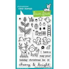 NEW LAWN FAWN CHERRY CHRISTMAS CLEAR ACRYLIC STAMP SET