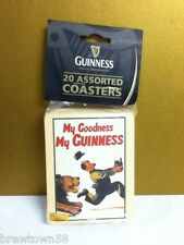 Guinness assorted beer coasters 20 count NOS Irish import from Ireland NEW R9