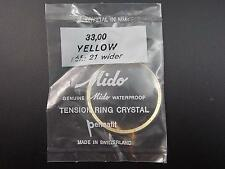Mido Vintage Watch Crystal Yellow Tension Ring Waterprf Permafit R#21 Wider NOS