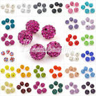 5Pcs Clay Crystal Rhinestone Pave Round Disco 10mm Ball Beads 25 Colours