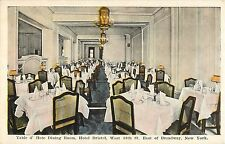 c1920 Table d'Hote Dining Room, Hotel Bristol, New York City, NY Postcard