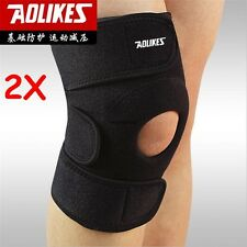2* Adjustable Protect GYM Leg Knee Patella Pads Support Brace Wrap Protector Pad