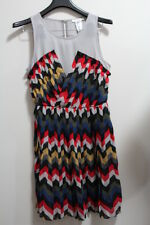 NEW Esley Women's Multicolor/ Jr. Small/ Tribal Pleated Chiffon Sleeveless Dress