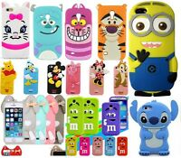 3D Cute Kids Disney Animal Silicone Back Case For iPhone Samsung Mobile Phones