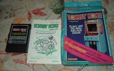 1982 Nintendo DONKEY KONG Intellivision Video Cartridge Coleco w/Box & Manual