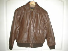 FLYERS BROWN  LEATHER  AVIATOR Jacket A-2 U.S. Army / Air Force NSN No.8415