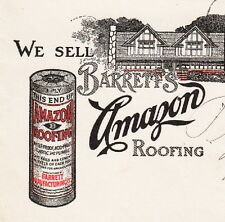 Malone Hardware NY Barret's Amazon Roofing Cover Billhead P Smith Nicholville µ