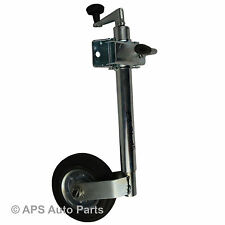 Heavy Duty Jockey Wheel 35mm Trailer Caravan Boat Rubber 220lbs 100kg New