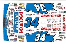 #34 GOULDS PUMPS Chevrolet 1/43rd Scale Slot Car Decals
