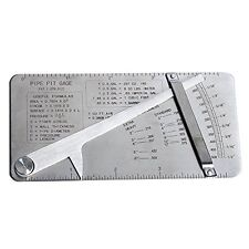 """Co-link Stainless Steel Pipe Pit Gage Welding Gauge 0 to 1/2"""" in 1/64"""" & .020 In"""