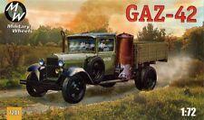 Ruedas militar GAZ-42 ruso 1/72 camión de carga # 7241