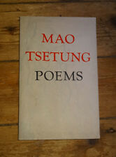 MAO TSETUNG POEMS First Edition in English China History 1976 Rare A16
