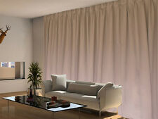 Blockout Curtain 270x230cm PINCH PLEAT Blackout High Level Fabric 500TC Brown