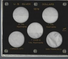 United States Morgan Silver Dollars Varities of 1878 Black Plastic holder