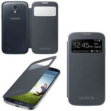 100% GENUINE SAMSUNG GALAXY S4 i9500 PREMIUM BLACK S VIEW COVER FLIP CASE NEW