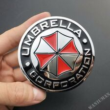 Resident Evil Umbrella Corporation Car 3D Metal Emblem Motorcycle Badge Sticker