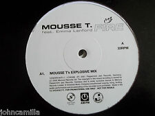 "MOUSSE T - FIRE - 2x12"" RECORD / VINYL - SERIOUS RECORDS - 12SERRO44T-1/-2"