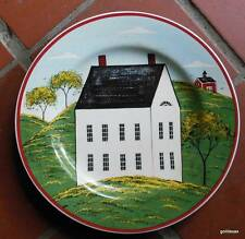 "Warren Kimble Country Life Plate White House With no Door  8"" 1998"