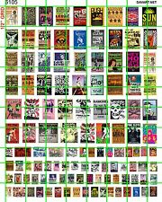 6105 DAVE'S DECALS POSTERS 70'S 80'S PUNK ROCK MUSIC CONCERT BAR BAND 2 SIZES