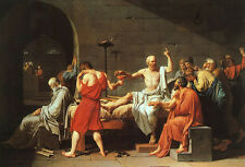 Oil painting Jacques-Louis David Portraits The Death of Socrates free shipping
